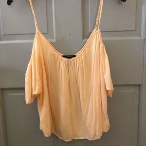 Of the shoulder peach tank top
